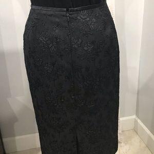 Kasper black jacquard skirt size 12